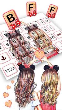 Best Friend Forever Keyboard Theme APK screenshot 1