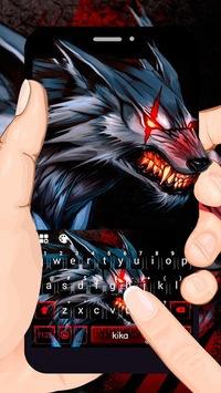 Bloody Metal Scary Wolf Keyboard - Wolf theme APK screenshot 1
