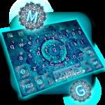 Blue Galaxy Mandala Keyboard Theme icon