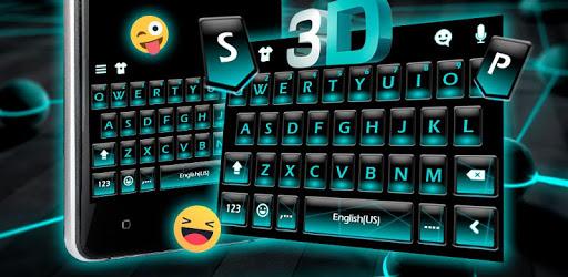 Blue Neon Fonts Tech Beam Keyboard - Neon fonts pc screenshot