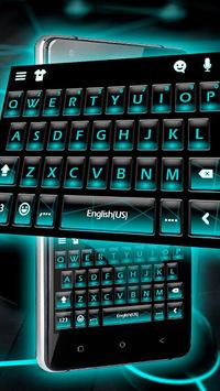 Blue Neon Fonts Tech Beam Keyboard - Neon fonts APK screenshot 1