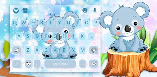 Cartoon Koala Keyboard Theme pc screenshot