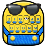 Cartoon Yellow Me Keyboard Theme icon
