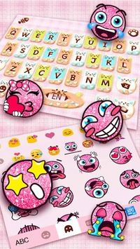 Colorful Donuts Button Keyboard Theme APK screenshot 1
