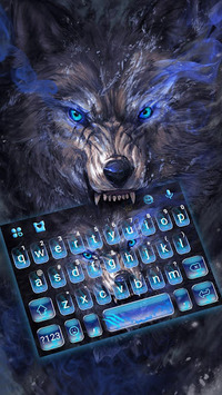 Cruel Night Wolf Keyboard Theme APK screenshot 1