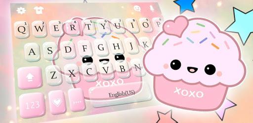 Cute Sweet Cupcake Keyboard Theme pc screenshot