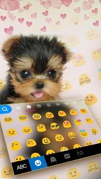 Cute Tongue Cup Puppy Keyboard Theme APK screenshot 1