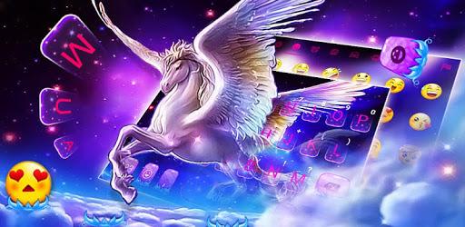 Dreamy Wing Unicorn Keyboard Theme pc screenshot