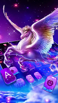 Dreamy Wing Unicorn Keyboard Theme APK screenshot 1