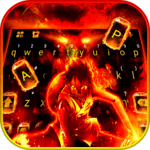 Flaming Fire Battle Keyboard Theme icon