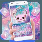 Galaxy Hot Pink Cupcake Keyboard Theme icon