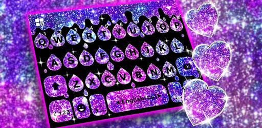 Galaxy Drop Heart Keyboard Theme pc screenshot