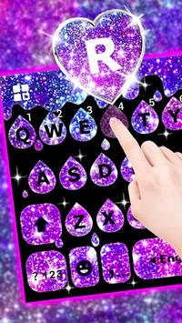 Galaxy Drop Heart Keyboard Theme APK screenshot 1