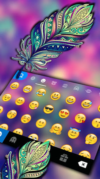 Galaxy Feather Keyboard Theme APK Download For Free