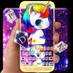 Kawaii Unicorn Keyboard Theme icon