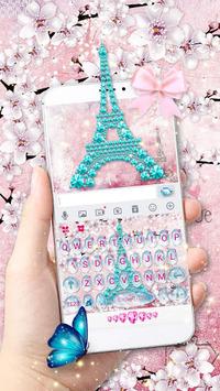 Girly Paris Keyboard - Girly theme APK screenshot 1