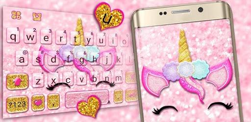 Glisten Unicorn Pinky Keyboard Theme pc screenshot