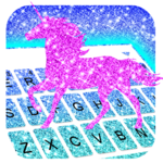 Glistening Unicorn Keyboard Theme icon