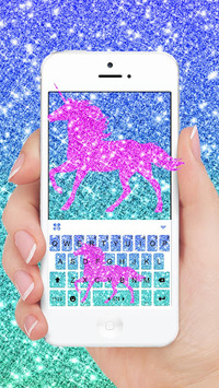 Glistening Unicorn Keyboard Theme APK screenshot 1