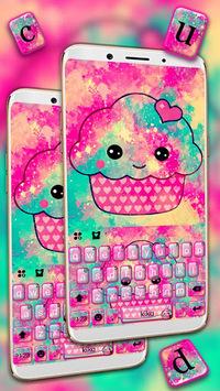 Tasty Cupcake Keyboard Theme APK screenshot 1