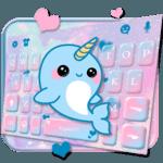 Lovely Unicorn Whales Keyboard Theme APK icon