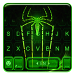 Neon Electric Spider Keyboard Theme icon