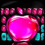 OS11 Glass Pink Apple Keyboard theme icon