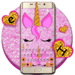 Pink Glisten Unicorn Cat Keyboard Theme icon