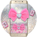 Glitter Pink Bow Keyboard icon