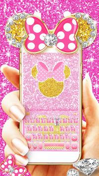 Pink Bow Minnies Keyboard theme APK screenshot 1