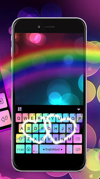 Rainbow Love Fonts Keyboard APK screenshot 1