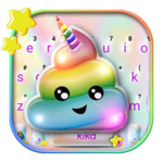 Rainbow Unicorn Poop Keyboard Theme icon