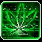 Neon Rasta Weed Keyboard Theme icon