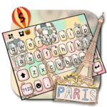 Romantic Paris Holiday Keyboard Theme icon