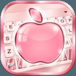 Rose Gold Apple Keyboard - Phone8,OS12 ,Emojis icon