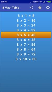 Maths Multiplication Tables APK screenshot 1