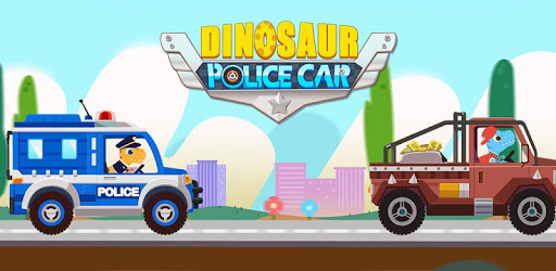 Dinosaur Police Car pc screenshot