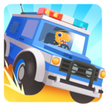 Dinosaur Police Car for pc icon