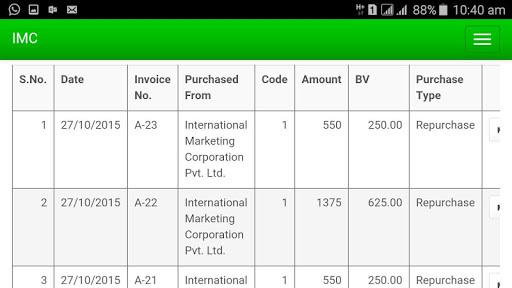 IMC Business Application APK screenshot 1