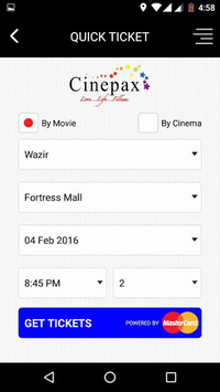 Cinepax - Buy Movie Tickets APK screenshot 1