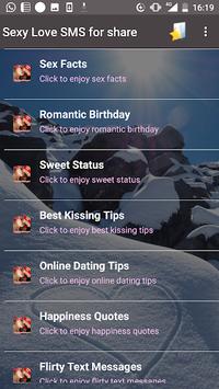 Sexy Love SMS for share APK screenshot 1