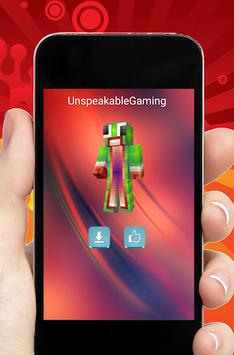 Skins Youtubers for Minecraft APK screenshot 1