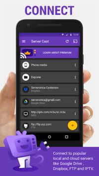 Server Cast | Videos to Chromecast/DLNA/Roku/+ APK screenshot 1