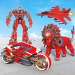Lion Robot Transform Wars : Super Bike Robot Games icon