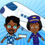 My Airport Town: Kids City Airplane Games for Free icon