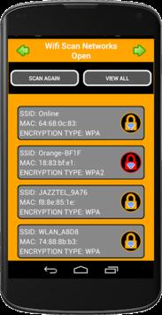 WIFI SCAN OPEN NETWORKS APK screenshot 1