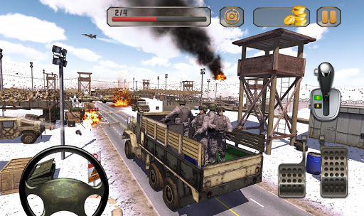 Us Army Truck Driving : Real Army Truck 🚚 APK screenshot 1
