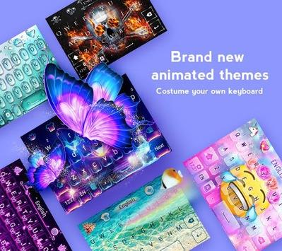 GO Keyboard - Cute Emojis, Themes and GIFs APK screenshot 1