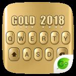 3D Gold 2018 GO Keyboard Theme icon
