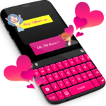 Pink Keyboard For WhatsApp icon